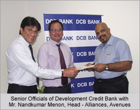 Senior Officials of Development Credit Bank with Mr. Nandkumar Menon, Manager - Alliances, Avenues